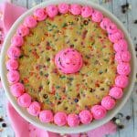 Funfetti Giant Chocolate Chip Cookie Cake