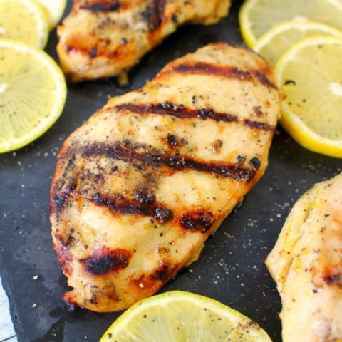 Meet your new favorite grilled chicken recipe! This savory, delicious Lemon Pepper Grilled Chicken comes together quickly and easily, making it the perfect dinner solution. Great with chicken breasts, legs or thighs!