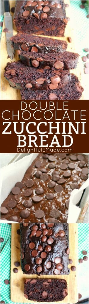 Looking for a delicious way to enjoy all that fresh summer zucchini? This Double Chocolate Zucchini Bread is the perfect sweet, quick bread recipe that's packed with fresh zucchini and loaded with chocolate chips!