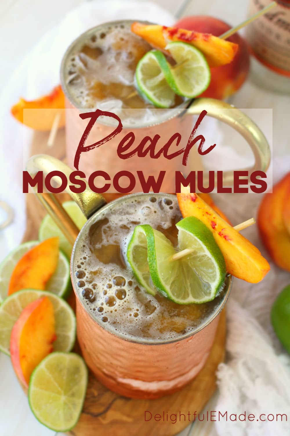 Ginger Peach Moscow Mule Moscow Mule Recipe Delightful E Made