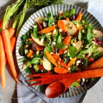 Roasted Carrot Salad with Apples and Pistachios