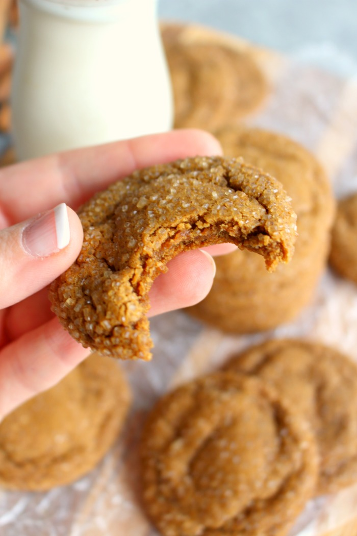 One of my all-time favorite Christmas cookies are these incredible Soft and Chewy Ginger Snap Cookies! Made with molasses, ginger, cinnamon, nutmeg and cloves, and rolled in turbinado sugar, these cookies will move you to the top of Santa's nice list!