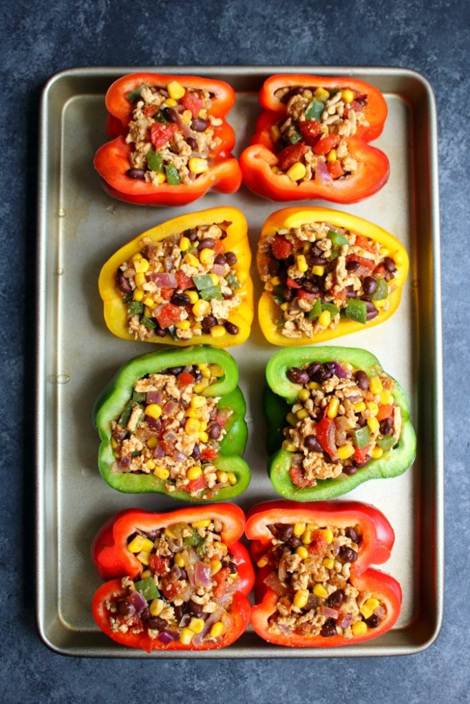 Meet your new favorite recipe for Healthy Stuffed Peppers! These Low-Carb, Healthy Taco Stuffed Peppers are super simple to make, and an easy meal prep option!