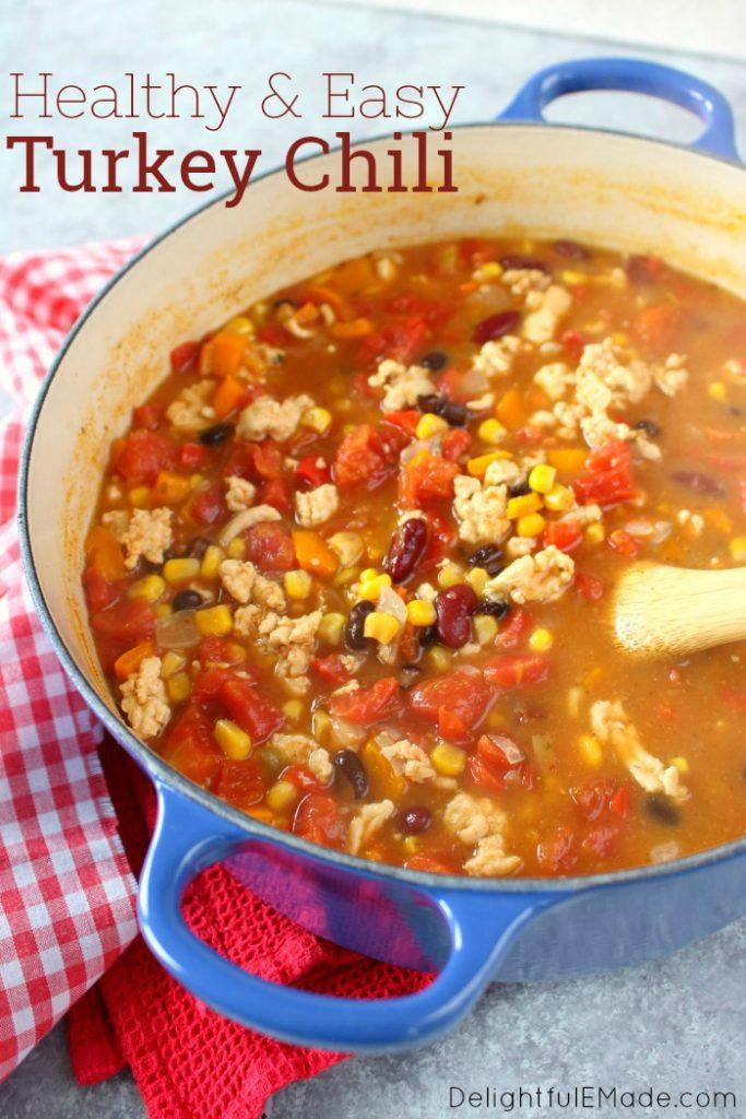 Healthy Turkey Chili Recipe Delightful E Made