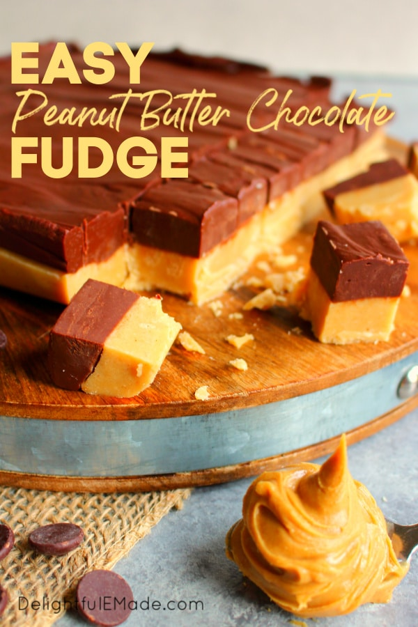 If you're looking for amazing Christmas fudge recipes, look no further! This incredible layered Peanut Butter Chocolate Fudge recipe is super simple to make and perfect for your Christmas cookie & candy exchanges!