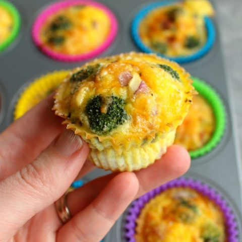 Are your mornings crazy-busy? These delicious Ham & Veggie Baked Egg Cups are the perfect make-ahead breakfast solution for those mornings. Loaded with protein, these baked egg muffins are the perfect healthy breakfast to start your day.