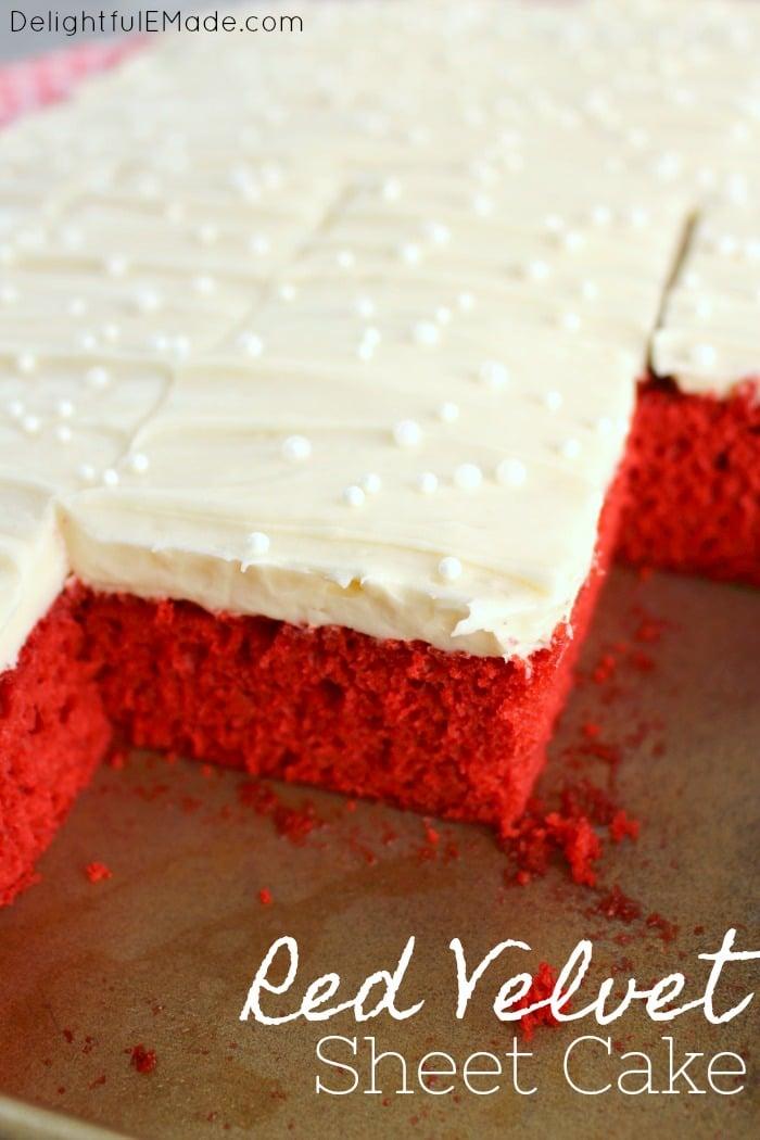Red Velvet Sheet Cake by DelightfulEMade