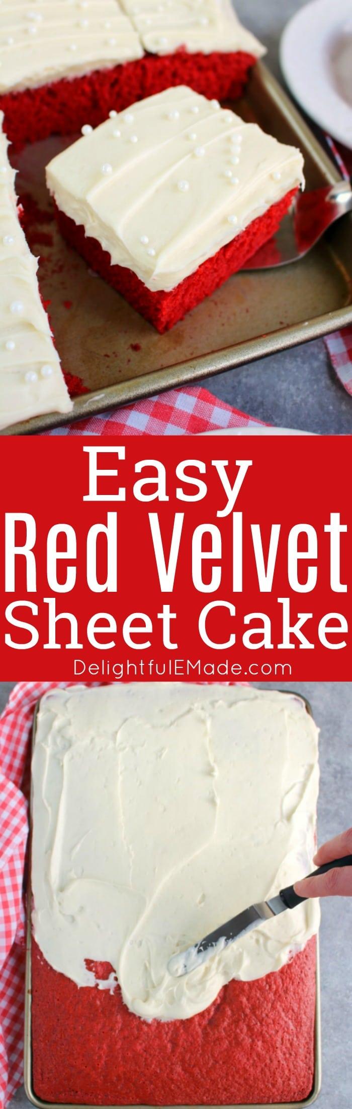Red Velvet Sheet Cake Delightful E Made