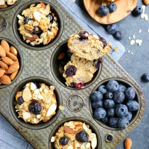 The perfect protein muffin recipe! These Blueberry Protein Muffins are a fantastic make-ahead breakfast option for busy mornings when you want a healthy breakfast.