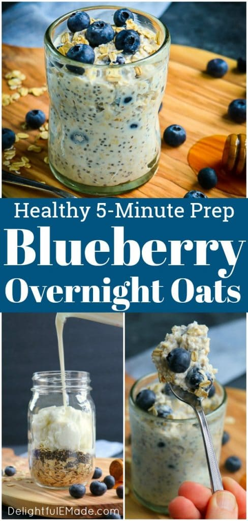 These Blueberry Overnight Oats will be your new go-to healthy breakfast! Perfect for meal prep, learning how to make overnight oats is a great way to have a healthy start to your day.