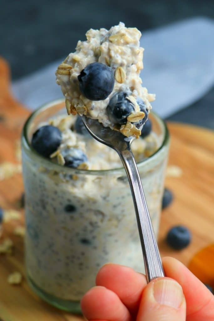 This recipe for Blueberry Overnight Oats will be your new go-to healthy breakfast! Perfect for meal prep, learning how to make overnight oats is a great way to have a healthy start to your day!
