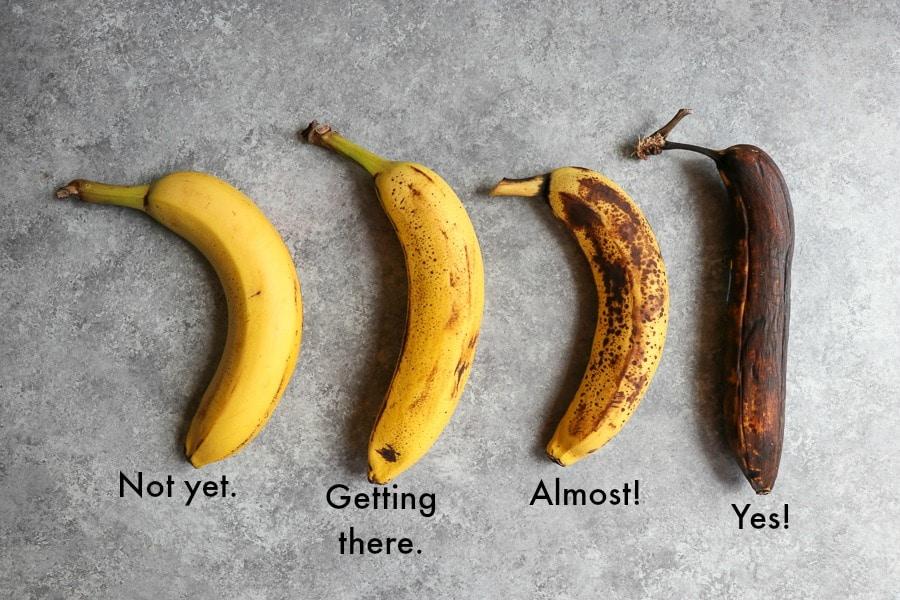 How ripe should bananas be for banana bread?