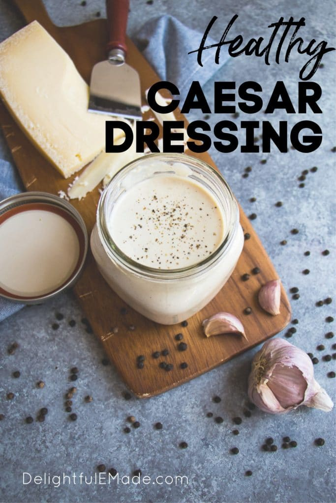 this Healthy Caesar Dressing is way better than anything you buy off the shelf. This Greek yogurt dressing recipe is simple to make, tastes incredible and comes together in just minutes! Definitely the BEST Homemade Caesar Dressing around!