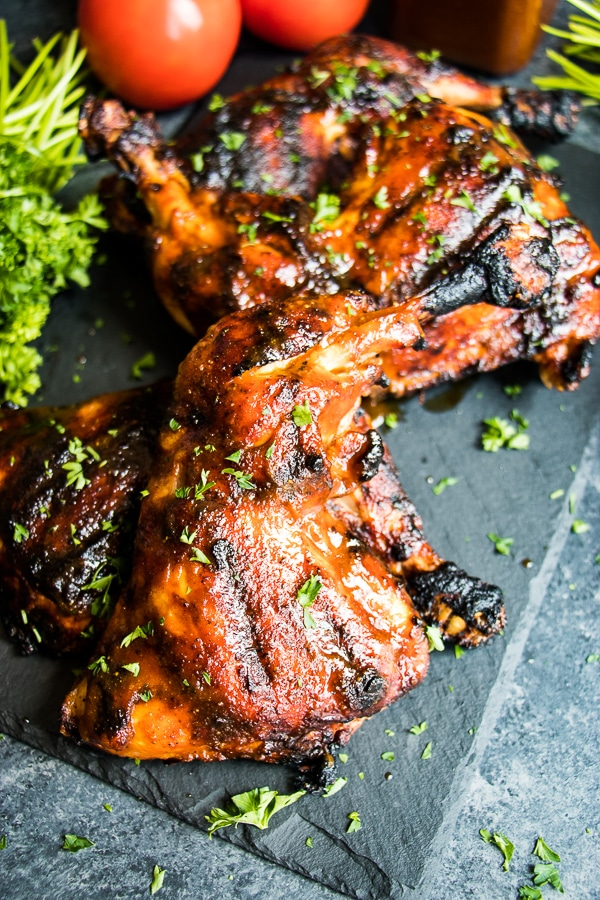 Do you love a seriously good BBQ Chicken Breast recipe? You've come to the right place! My BEST BBQ Chicken recipe is amazing! With a simple bbq spice rub and my homemade honey bbq sauce, this easy grilled barbecue chicken will knock your socks off!