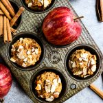 These Healthy Apple Muffins will be your new favorite make-ahead breakfast. This flourless protein muffin recipe is simple to make and perfect for when you need something healthy on-the-go!