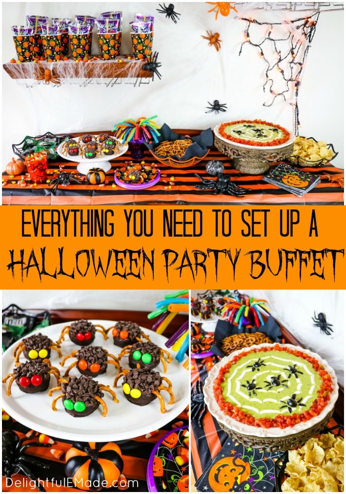 Looking for some awesome Halloween buffet ideas? I've put together some of my favorite Halloween party appetizers and sweet treats from Dollar General to create a simple, fun and budget-friendly Halloween party buffet!