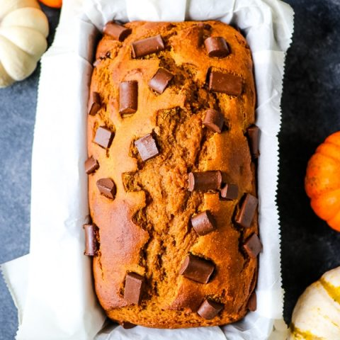 Looking for a way to make pumpkin bread healthy? I've got you! My Healthy Pumpkin Bread Recipe leaves out the unhealthy oil and refined sugar and replaces it with good-for-you ingredients. It's moist, flavorful and completely delicious!