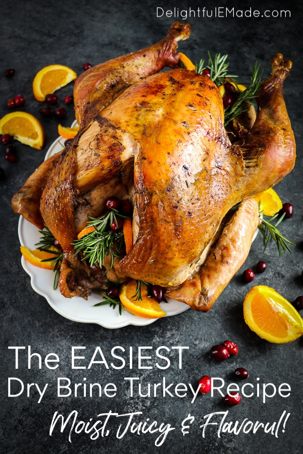 This simple method for How to Dry Brine a Turkey is easy and a great way to add additional flavor to your bird! My Dry Brine Turkey Recipe includes rosemary, citrus and allspice - once you brine your turkey with this recipe, you'll never go back!