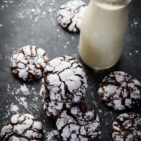 Are Chocolate Crinkles one of your favorite Chocolate Christmas Cookies? Then you definitely need to make this Chocolate Crinkle Cookie recipe for your next cookie exchange or Christmas party! Soft, chewy and perfect for leaving out for Santa on Christmas Eve!