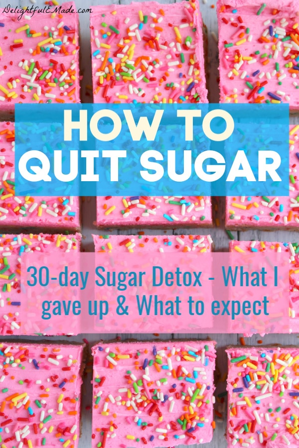Wondering how to quit sugar? Have you noticed that refined sugar has a hold on you? I did, so I challenged myself to give up refined sugar for 30 days. I set my own parameters, faced some serious pitfalls and discovered something amazing on giving up sugar!