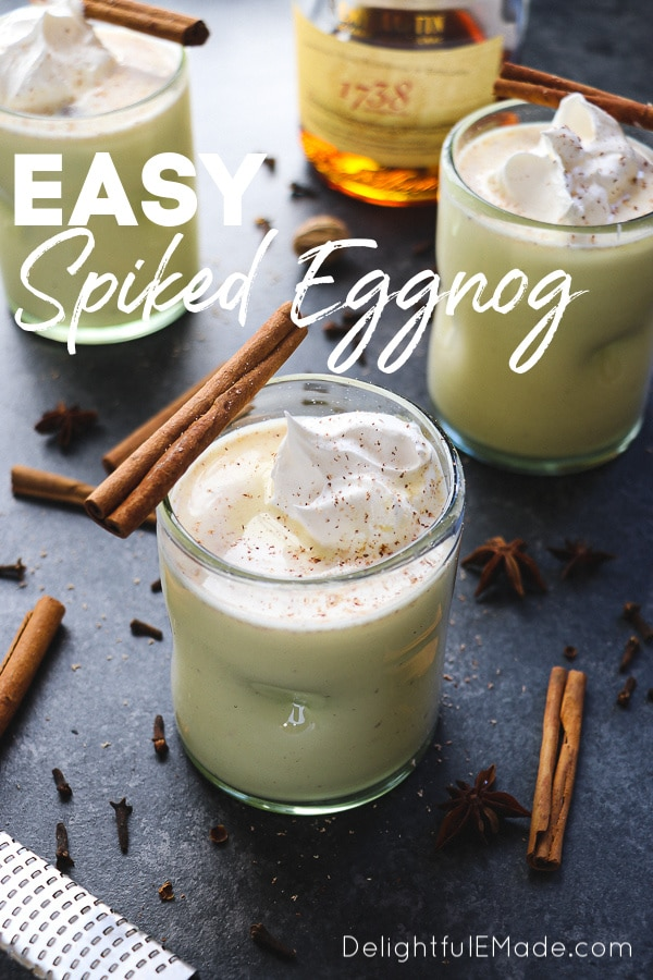 Spiked Eggnog The Best Easiest Homemade Spiked Eggnog Recipe