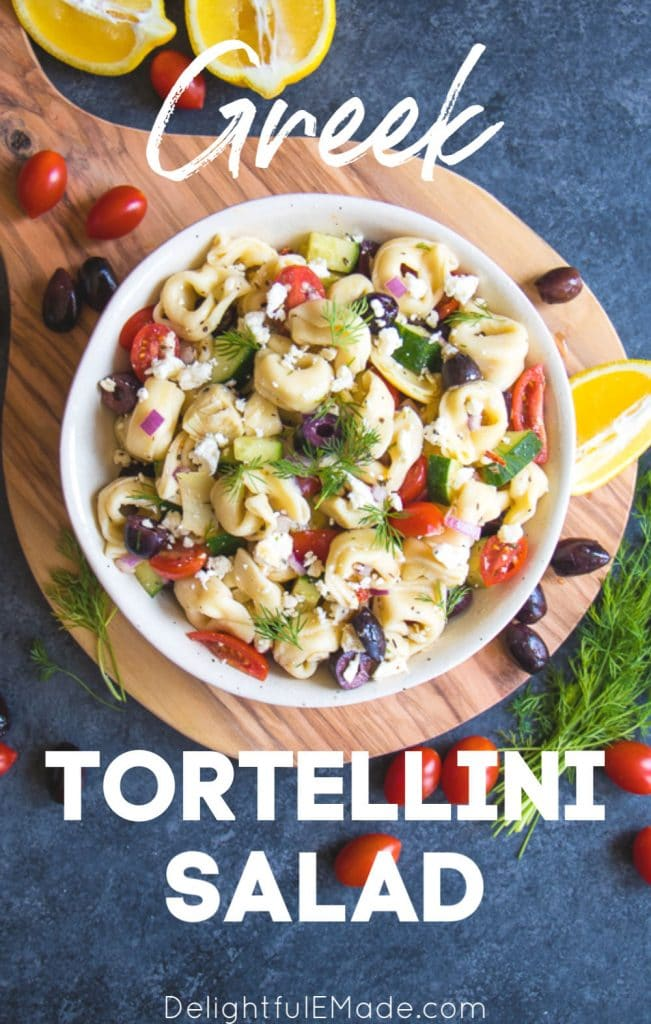 Do you love a really amazing, tortellini pasta salad? My Easy Greek Tortellini Salad recipe is the perfect dish for your next cookout. Loaded with all of your favorite Greek ingredients, this cold tortellini salad will be the perfect side dish for just about any meal!