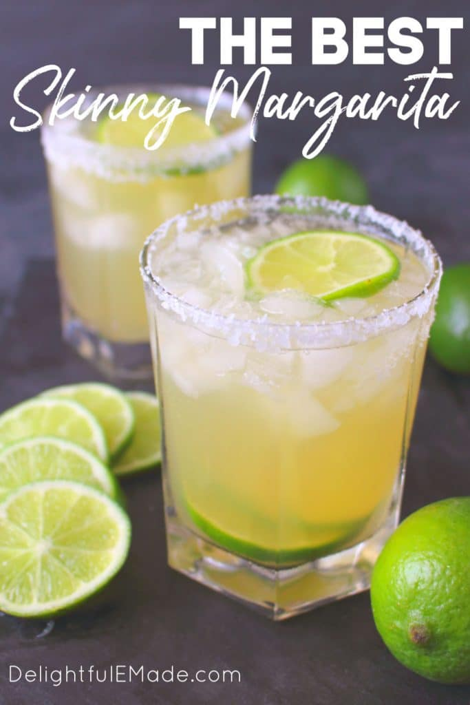 This simple Skinny Margarita recipe is an amazing way to imbibe without all of the calories and sugar. Fresh, easy and completely delicious!