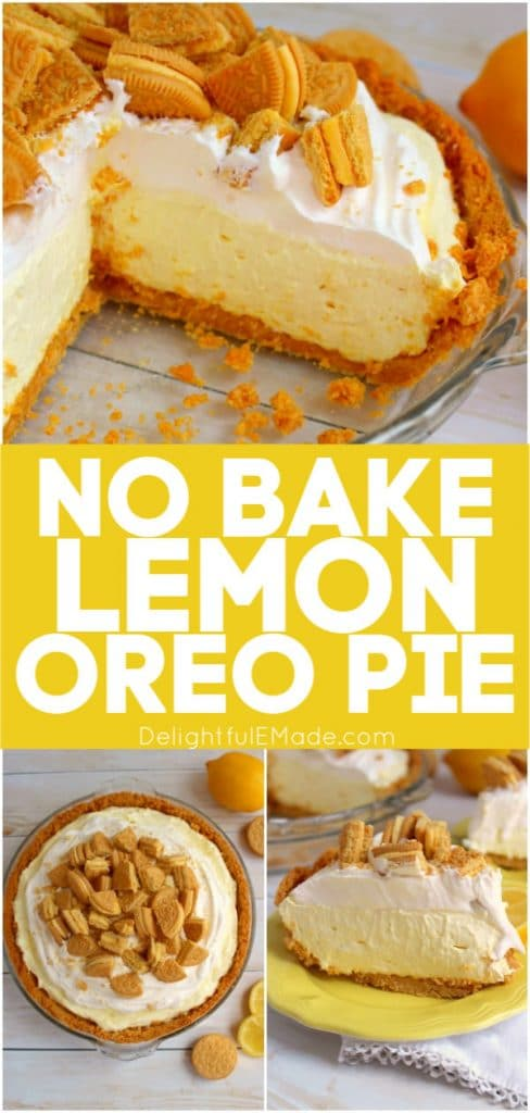 Made with lemon OREO's, this Lemon OREO Icebox Pie is heaven on a plate! Much like the classic lemon icebox pie recipe, this no bake lemon pie recipe is incredible!
