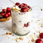 Cherry Overnight Oats with Greek Yogurt