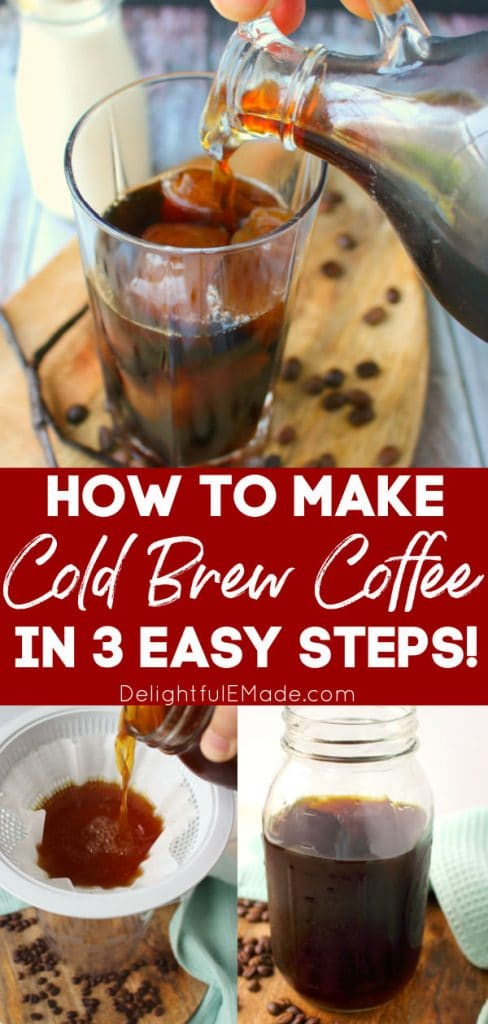 Homemade cold brew coffee, how to make cold brew coffee at home