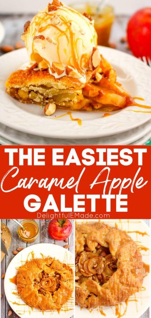 Caramel Apple Galette on plate