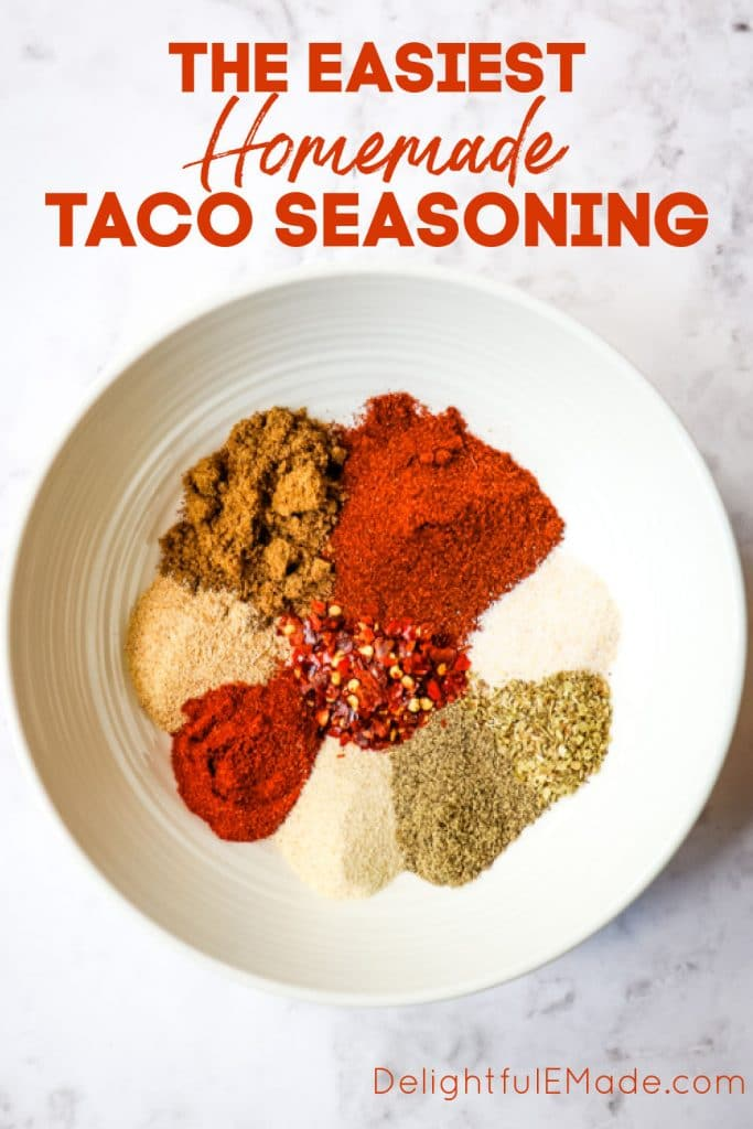 Easy Homemade Taco Seasoning Recipe The Best Taco Spice Mix