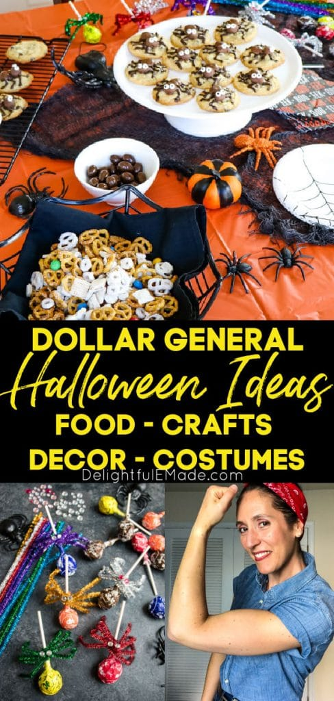 Halloween costumes, food and decorations from Dollar General.