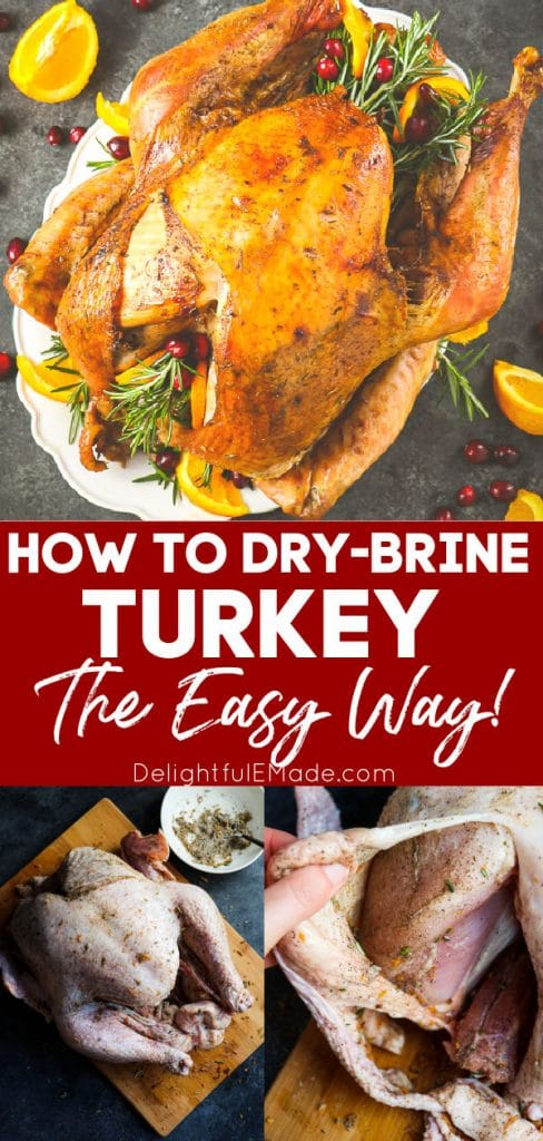 Thanksgiving turkey on a platter for how to dry brine a turkey.