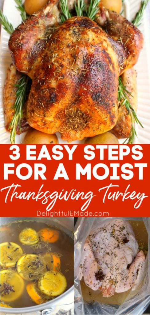 Easy steps to cooking a moist Thanksgiving turkey.