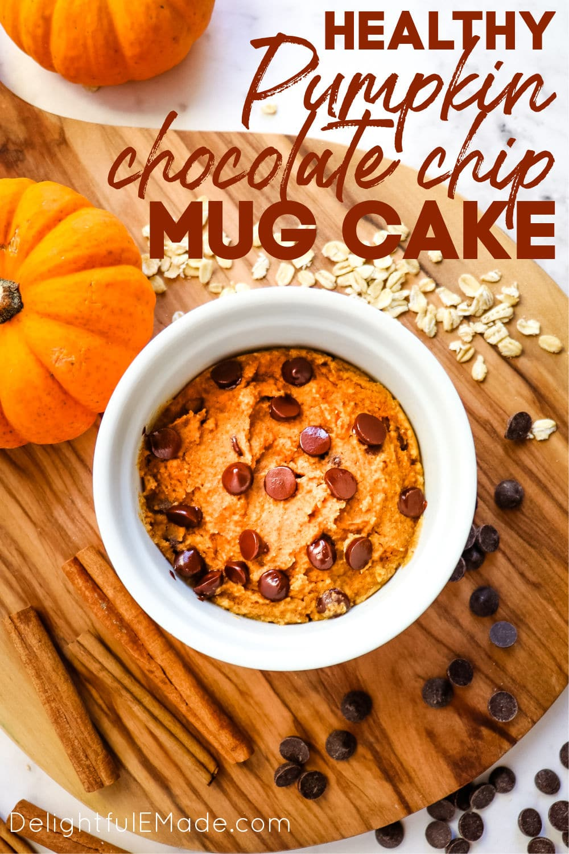 Healthy Pumpkin Mug Cake 1 Minute Microwave Recipe