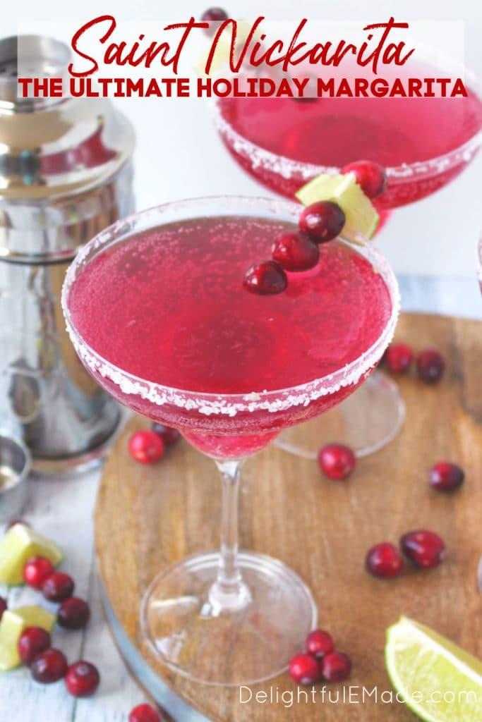 Saint Nickarita Christmas Margarita, cranberry margarita recipe