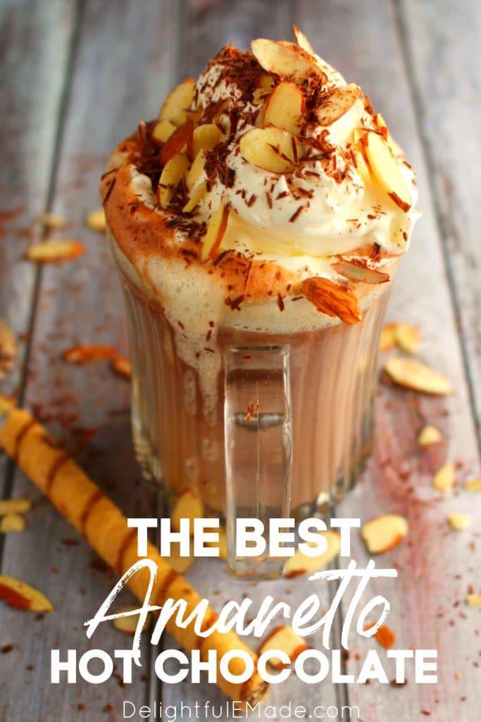 Amaretto hot chocolate, spiked hot chocolate recipe