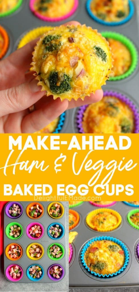 Make ahead baked egg cups in tin and baked egg muffins in cups.