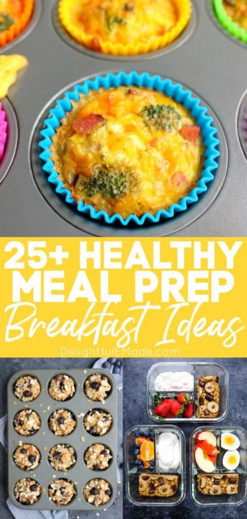 Healthy meal prep breakfast ideas, make ahead breakfast ideas.