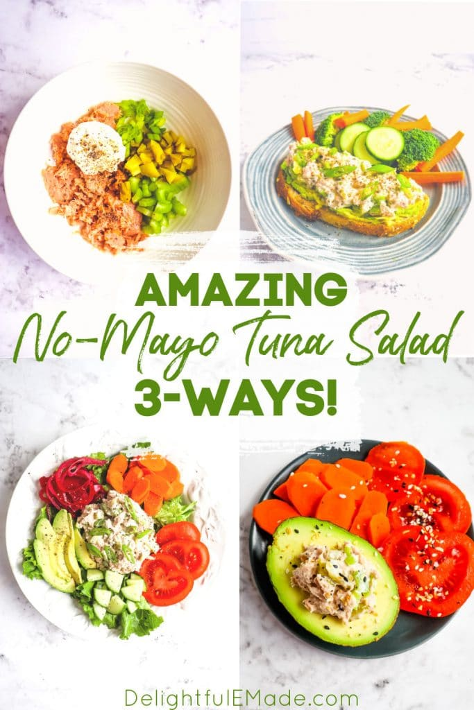 Greek yogurt tuna salad, no mayo tuna salad three ways