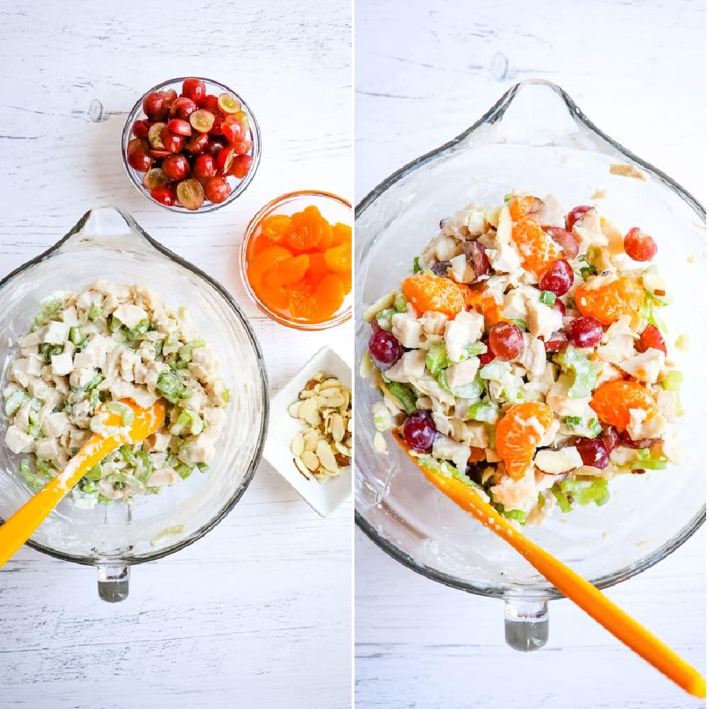 How to make Greek yogurt chicken salad.