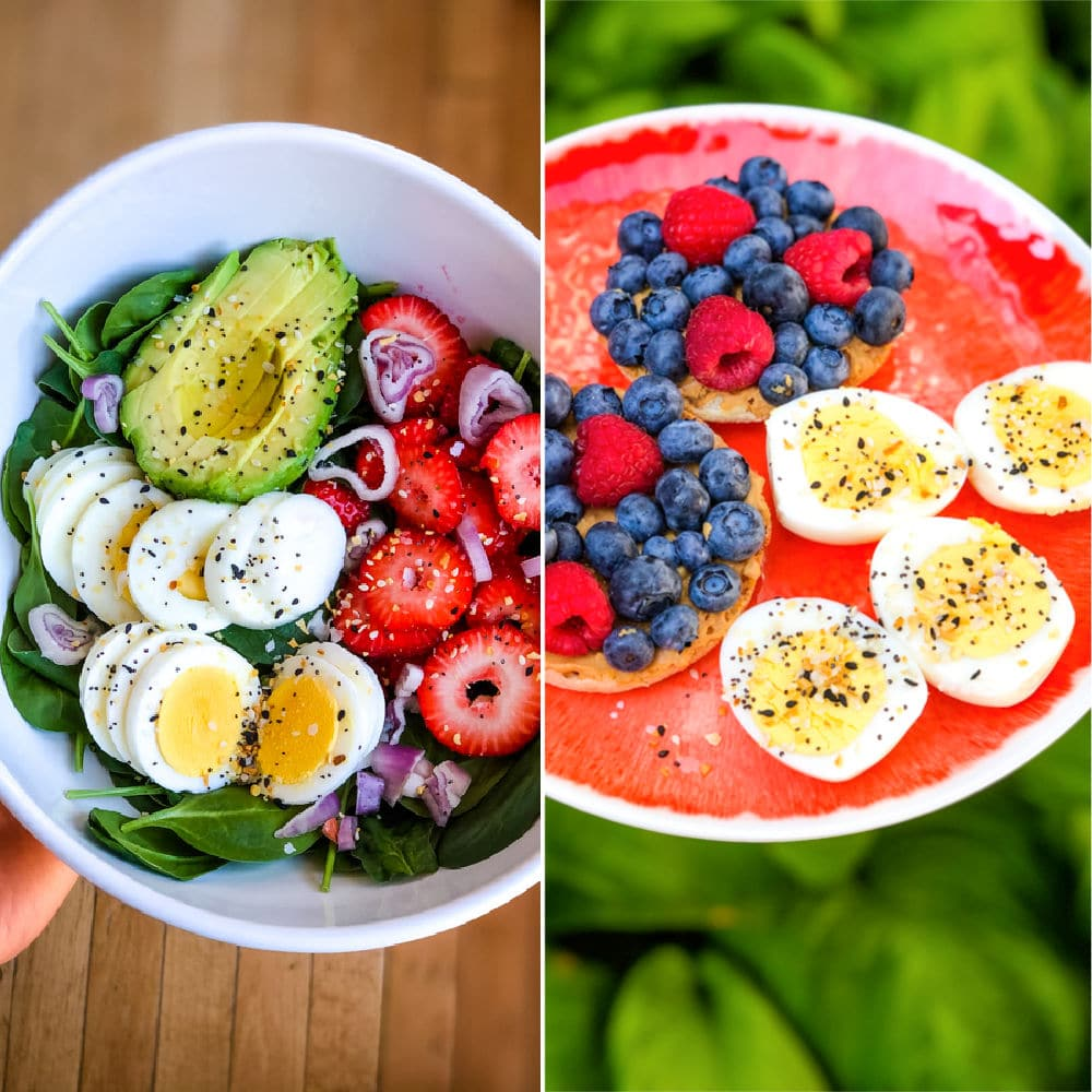 Healthy meal prep ideas, meal prep sunday salads and breakfast