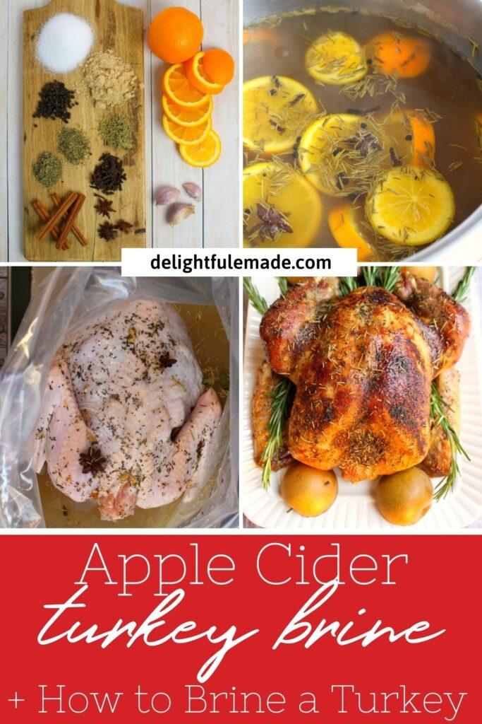 how to make apple cider turkey brine, step by step photos.